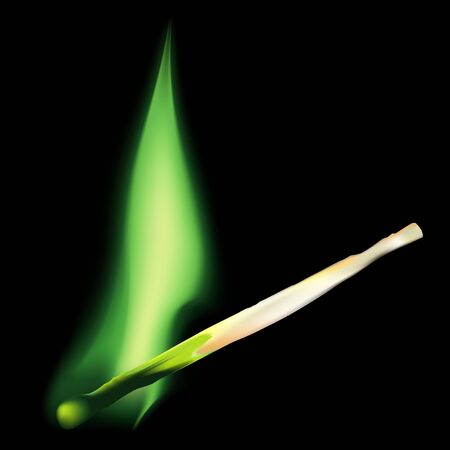 combustible: Safety-match (Green) Stock Photo