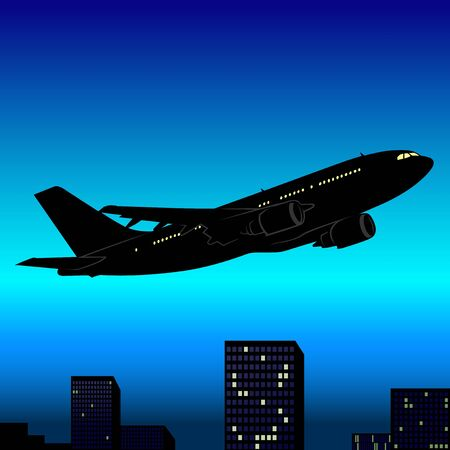 air liner: Aeroplane Silhouette 03