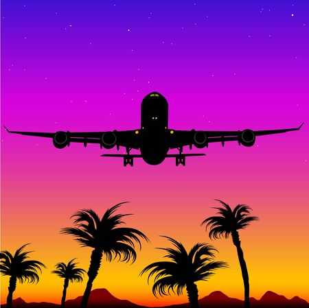 Aeroplane Silhouette 05 Stock Photo