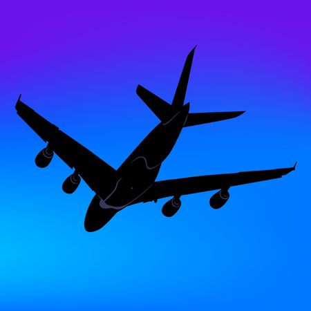 liners: Aeroplane Silhouette 06 Stock Photo