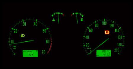 tachymeter: Car panel Stock Photo