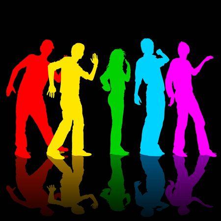 Rainbow Dance Banco de Imagens