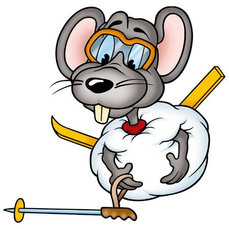 Mouse 02 skier photo