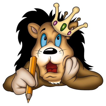 lively: Lion 04 king Stock Photo