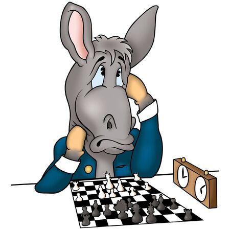 Donkey chessplayer Stock Photo - 660756