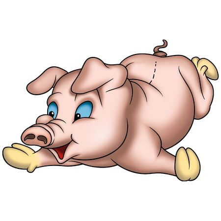 undulate: Piggy Stock Photo