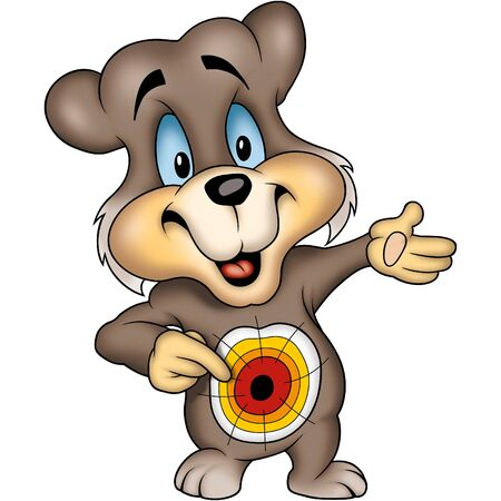 dartboard: Teddy Bear 13 Dartboard Stock Photo