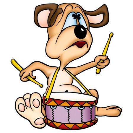 jovial: Dog drummer