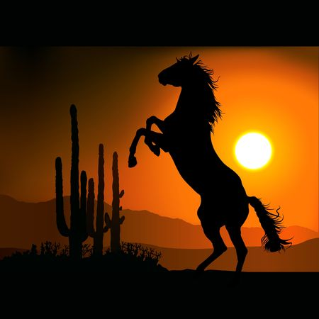 hoofed: Horse Silhouette A