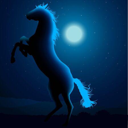 hoofed: Horse Silhouette B