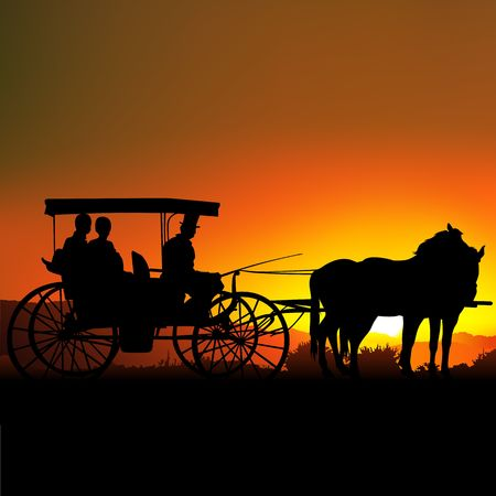 romanticist: Carriage Silhouette A