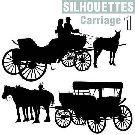 romanticist: Silhouettes Carriage 1
