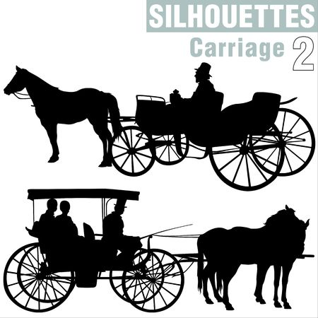 romanticist: Silhouettes Carriage 2