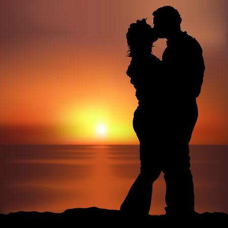 siluetas de enamorados: A los amantes