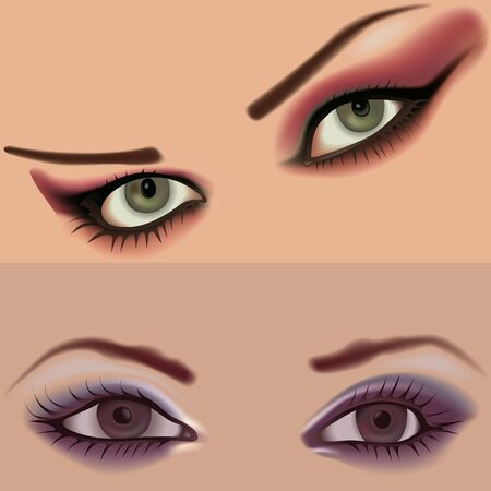 mimicry: Eyes vol.3 - High detailed illustration. Stock Photo