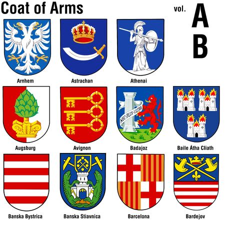 baile: Coat of Arms ( AB ) Stock Photo