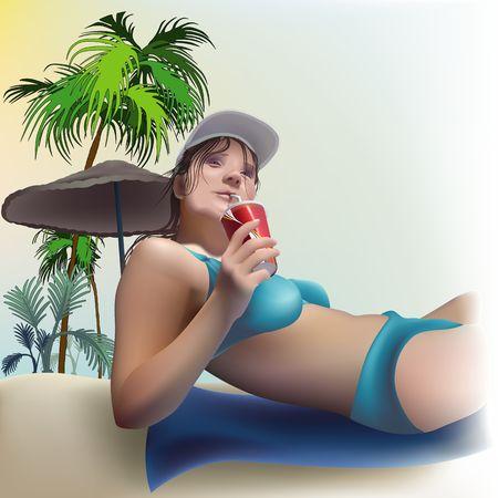 damsel: Girl on the beach