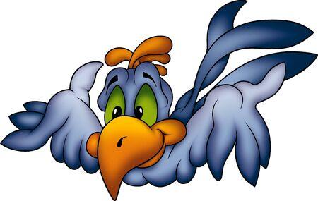 jovial: Blue parrot