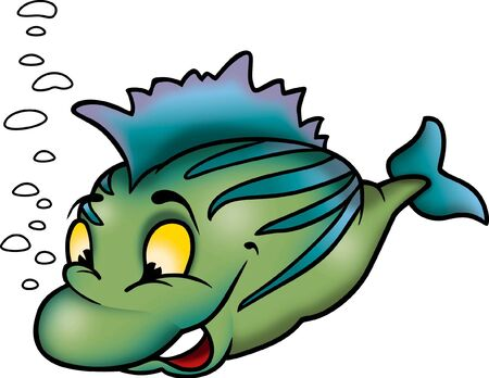 Clever green fish