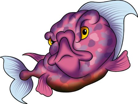 Violet dotted fish