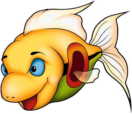 Beautiful yellow coral fish Stock Photo