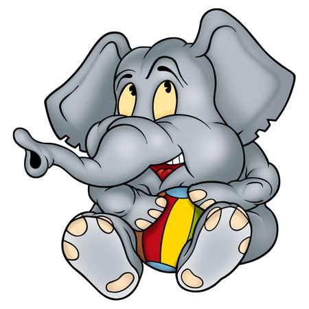 bal: Elephant and bal Stock Photo