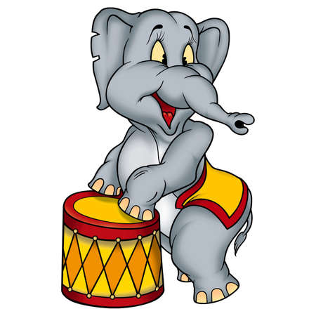 the performer: Elephant circus performer Stock Photo
