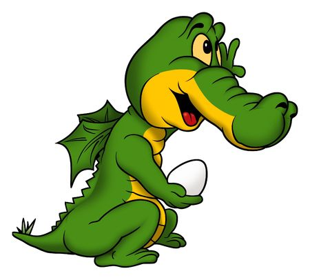 Little green dragon Stock Photo