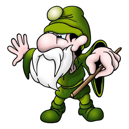 imp: Green magician with wand