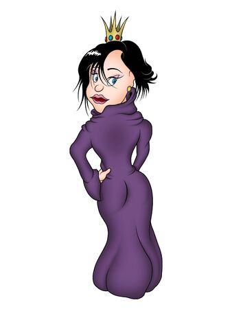 Princess and violet dress photo