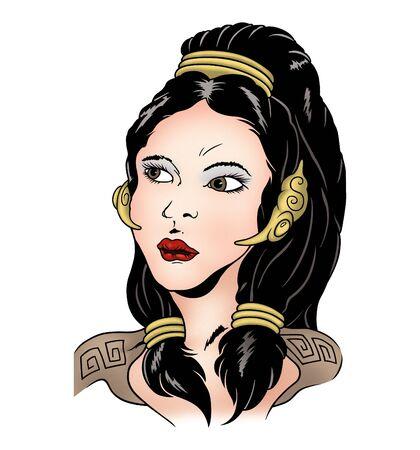 Roman woman photo