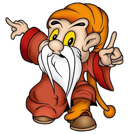 enano: Gnome y el vestido rojo