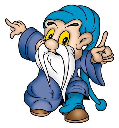 Gnome & blue clothing Stock Photo - 786754