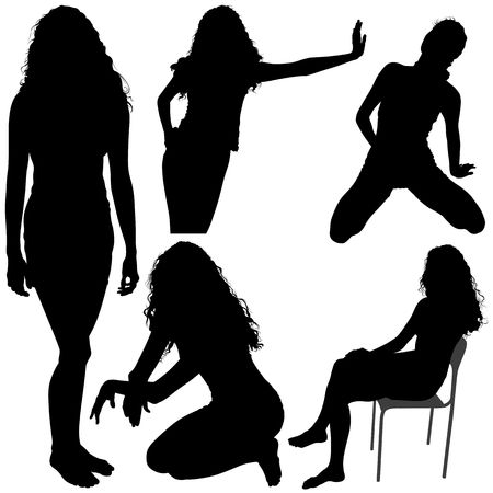 curvaceous: Girls Silhouettes 06 Stock Photo