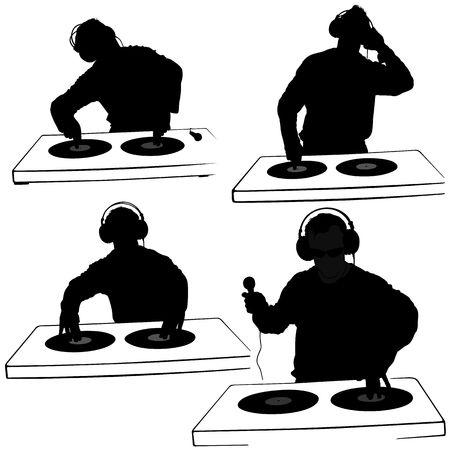 revelry: DJs 05 - Deejay silhouettes