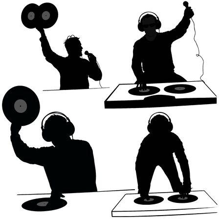 DJs 06 - Deejay silhouettes photo