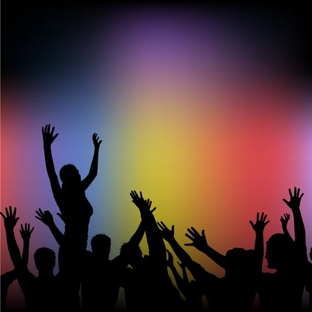 Crowd 01 - Detailed and coloured illustration Stock Illustration - 821685