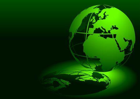 parallel world: 3D Globe - Green
