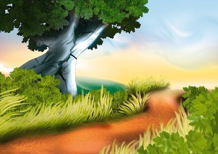 Dirty track - Highly detailed cartoon background 13