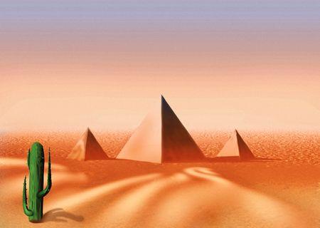 highly: Egyptian desert - Highly detailed cartoon background 14