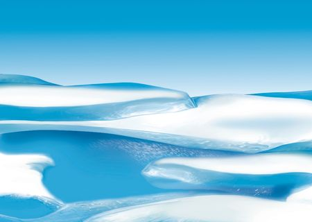 arctic: Ice floe - Highly detailed cartoon background 30 Stock Photo