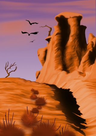 parched: Prairie - Highly detailed cartoon background 47