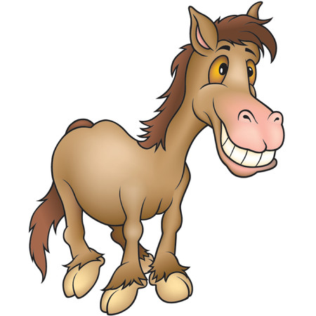 amuse: Horse humourist  - Highly detailed cartoon