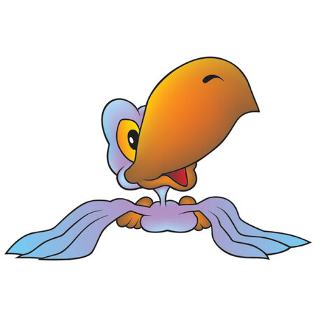 amiable: Blue-violet Parrot - Highly detailed cartoon