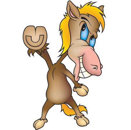 cartoons sweet: Standing Horse - Highly detailed cartoon animal