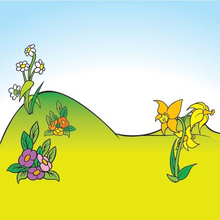 hillock: Cartoon Antecedentes 05 - dibujos animados de fondo  Vectores