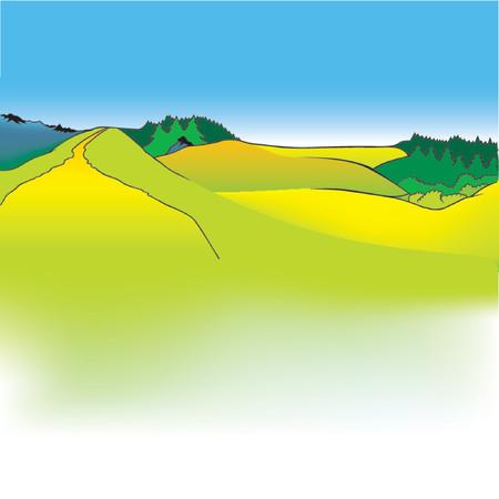 mountain meadow: Cartoon Antecedentes 11 - dibujos animados de fondo