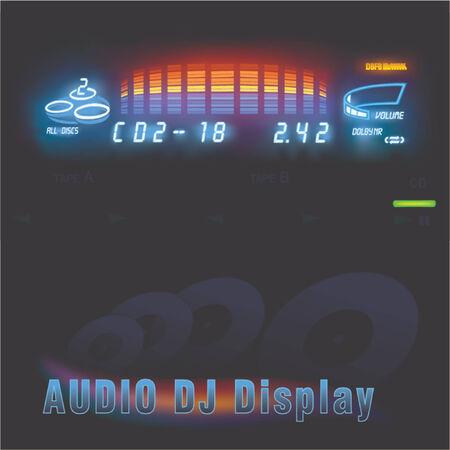 dolby: Audio DJ display - photorealistic illustration