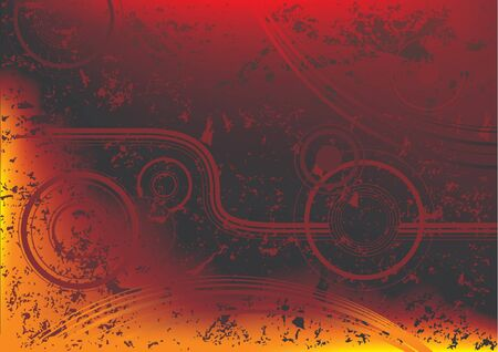 daub: Abstract fire grunge - flame grunge vector illustration Illustration