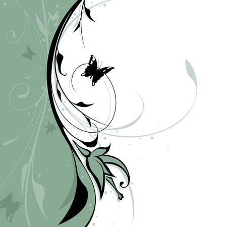 Floral background 09 - vector background illustration Stock Vector - 1414844